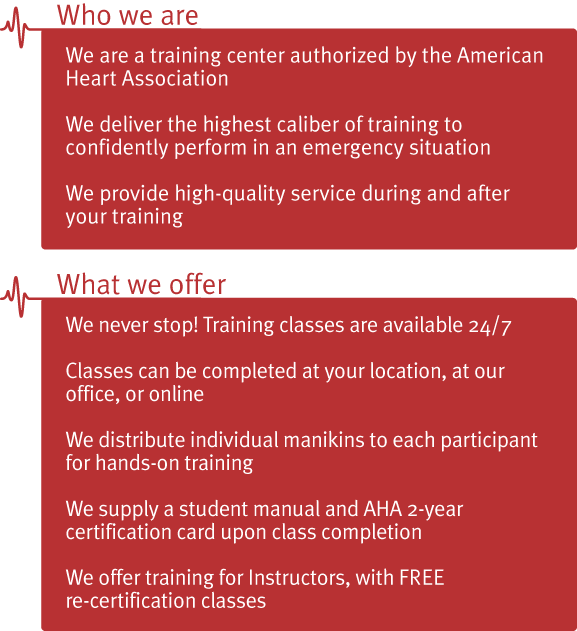 cprofessionals, inc. aha authorized training center in morris county, nj
